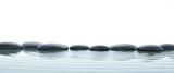 Fototapeta Kamienie - Zen stones in water on widescreen