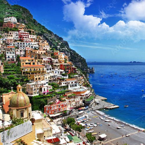 Foto-Flächenvorhang - Italian scenery -Positano, Amalfi coast (von Freesurf)