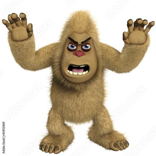 Poster de jardin Doux monstres horror brown yeti