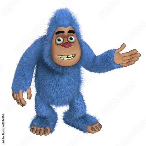 Foto op Aluminium Sweet Monsters blue bigfoot