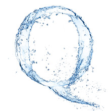 "Water Splashes Letter ""Q"" Isol..."