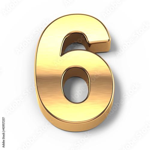 Photographie  3D numéros de métal d'or - numéro 9