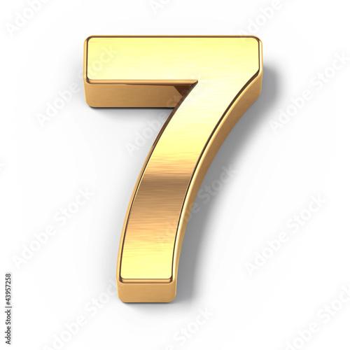 Fotografia  3d Gold metal numbers - number 9