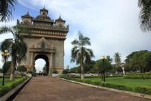 Archway In Vientiane, Laos.