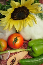 Vegetables And Sunflower.