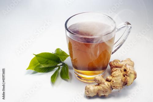 Staande foto Thee hot gingger tea