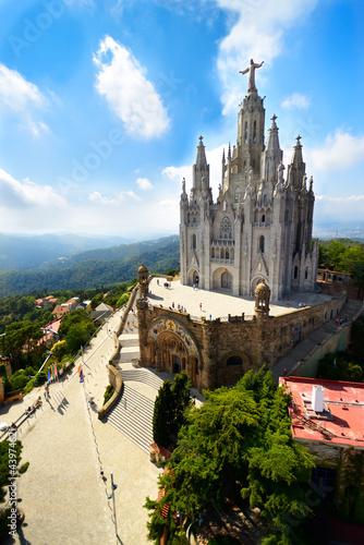 Foto op Canvas Barcelona Tibidabo church