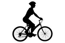A Silhouette Of A Female Biker...