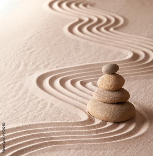 Acrylic Prints Stones in Sand zen meditation garden