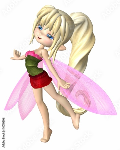 La pose en embrasure Fées, elfes Cute Toon Summer Petals Fairy