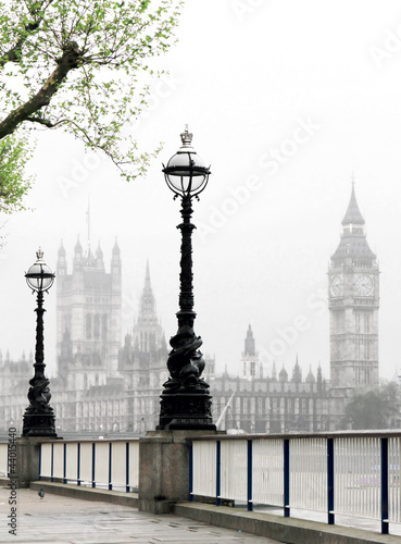 Fototapety, obrazy: Big Ben & Houses of Parliament, idyllic view