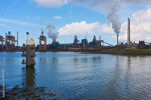 Fotografie, Obraz  Hoogovens steel factory