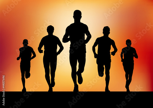 Foto  Laufende Männer