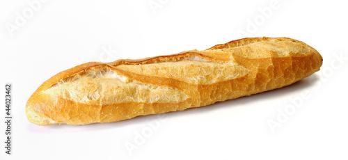 Valokuva  Long loaf, Baguette on white background