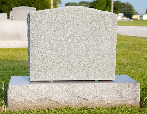 Obraz na plátne Blank Tombstone