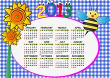 2013 Bee Calendar