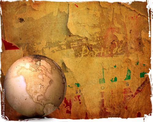 Papiers peints Amérique du Sud aged America map vintage artwork for your design