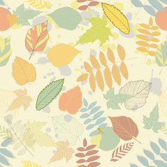 FototapetaVintage autumn seamless pattern vector