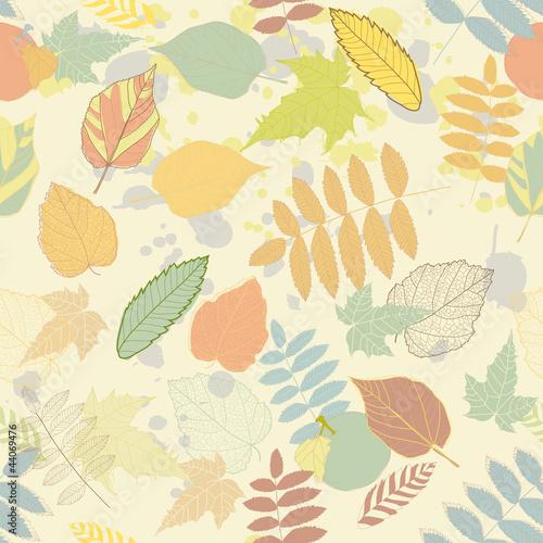 Vintage autumn seamless pattern vector - 44069476