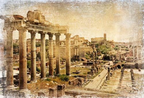 fora-rzymskie-zdjecie-retro
