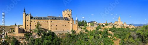 Panoramic view of Alcazar in the center of Segovia