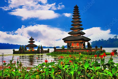 Tuinposter Bali Pura Ulun Danu Bratan Temple, Bali, Indonesia