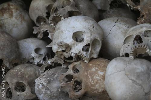 Pinturas sobre lienzo  Human sculls, Cambodia, Phnom Pehn, Killing fields