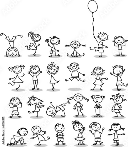 Śliczna szczęśliwa dziecko kreskówka