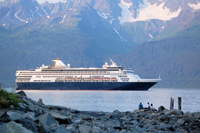 A Cruise Ship Leaving Seward, ...