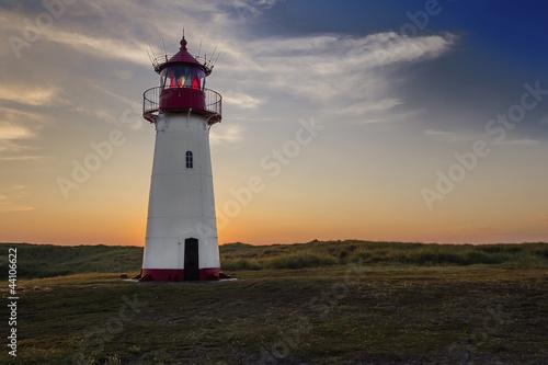 Foto-Leinwand - Leuchtturm auf Sylt (von atira)
