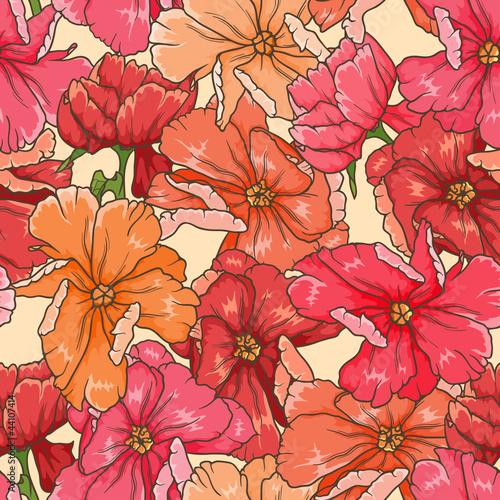 Keuken foto achterwand Abstract bloemen Floral seamless pattern
