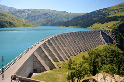 Canvas Prints Dam Barrage et lac de Roselend