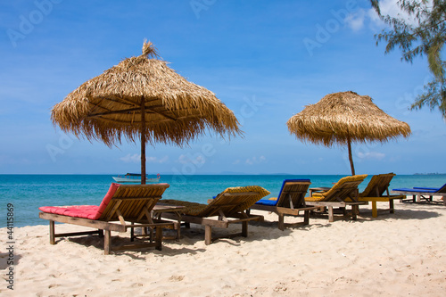 Cadres-photo bureau Tunisie Beautiful tropical beach in Sihanoukville, Cambodia .