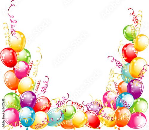 Invitation Card For Birthdays Balloons Design