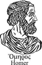 Ancient Greek Poet Homer.