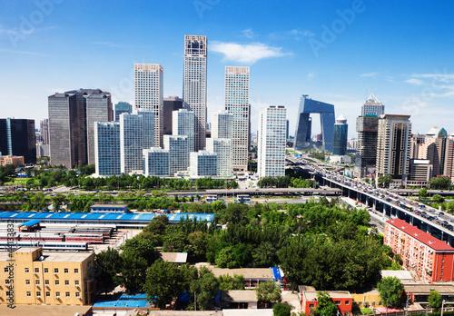 Keuken foto achterwand Peking landscape of modern city ,beijing