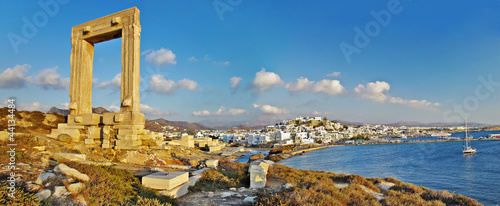 фотография panorama of Naxos island, Greece