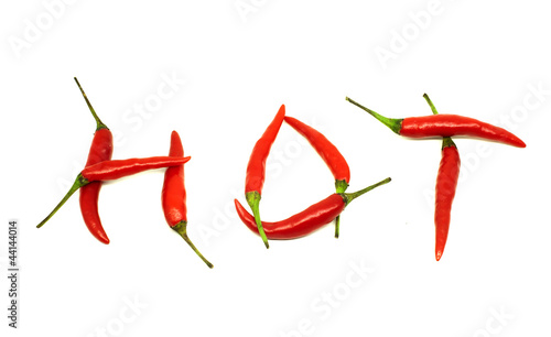 Staande foto Hot chili peppers red hot chili