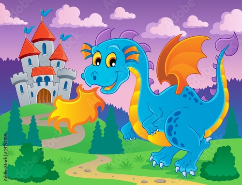 Poster Castle Dragon theme image 5