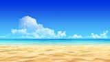 Fototapeta Fototapety z morzem do Twojej sypialni - Idyllic tropical sand beach background.