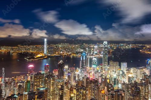 Poster Australie Hong Kong at Night