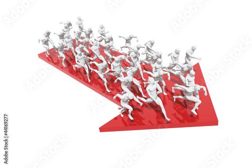 Photo  Grupo de personas corriendo en una dirección