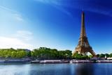 Fototapeta Paryż - Seine in Paris with Eiffel tower