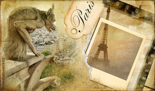 Papiers peints Retro vintage almum - memories about Paris