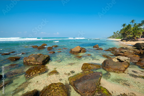 Poster Turquoise Tropical beach