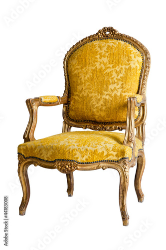 Fotografie, Obraz  luxury Yellow Armchair
