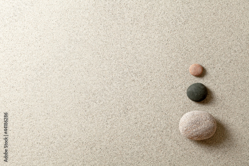 Recess Fitting Stones in Sand Zen stones