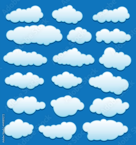 Tuinposter Hemel vector set of clouds in the sky