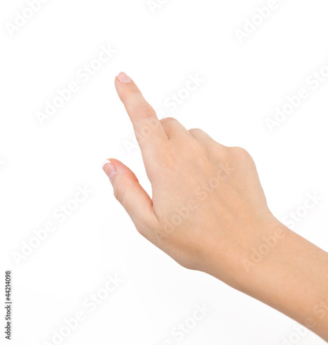 female hand on the isolated background Fototapet