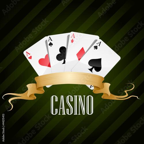 Fotografie, Obraz  vector illustration poker poster casino